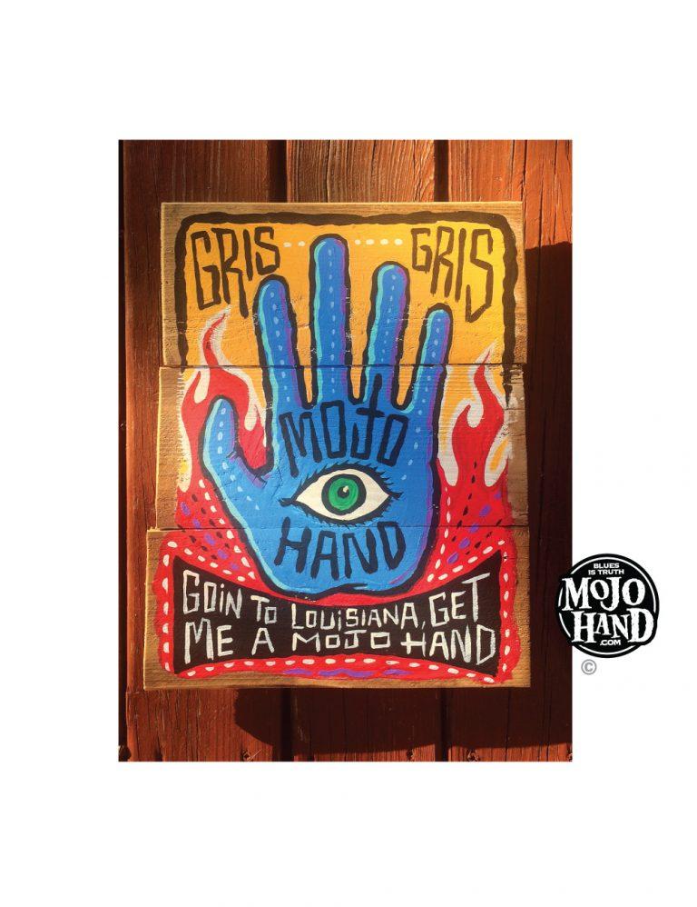Mojo Hand Gris Gris folk art painting