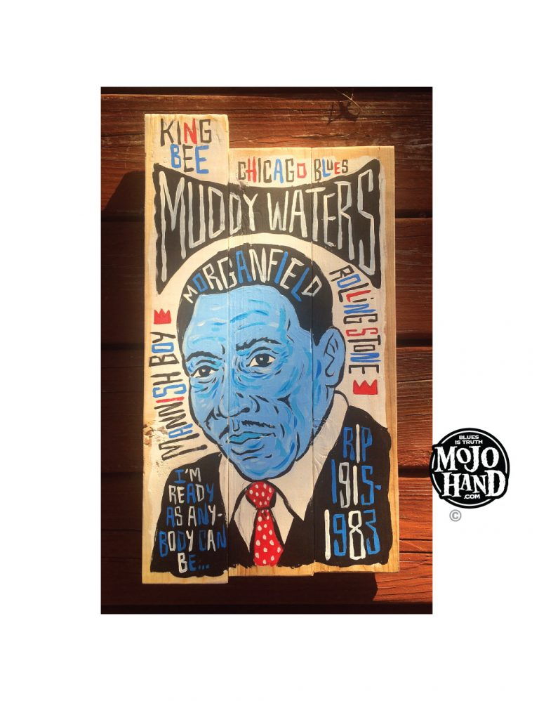 Muddy Waters Chicago Blues folk art