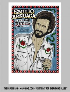emilio arsuaga blues concert poster