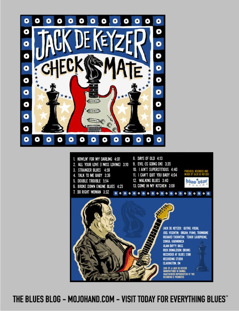Jack De Keyser blues cd cover artwork by Grego Anderson - Mojohand.com