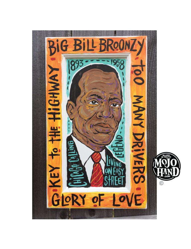 Big Bill Broonzy Blues Folk Art