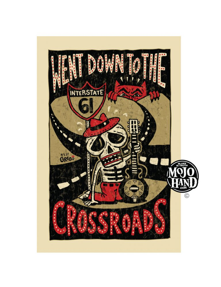 crossroads poster - Blues folk art