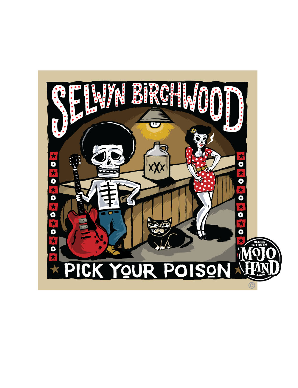 selwyn birchwood pick your poison - cover art by Grego Anderson - Mojohand.com