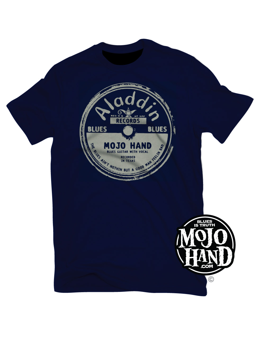 Aladdin blues record label t shirt mojohand everything for Vintage record company t shirts