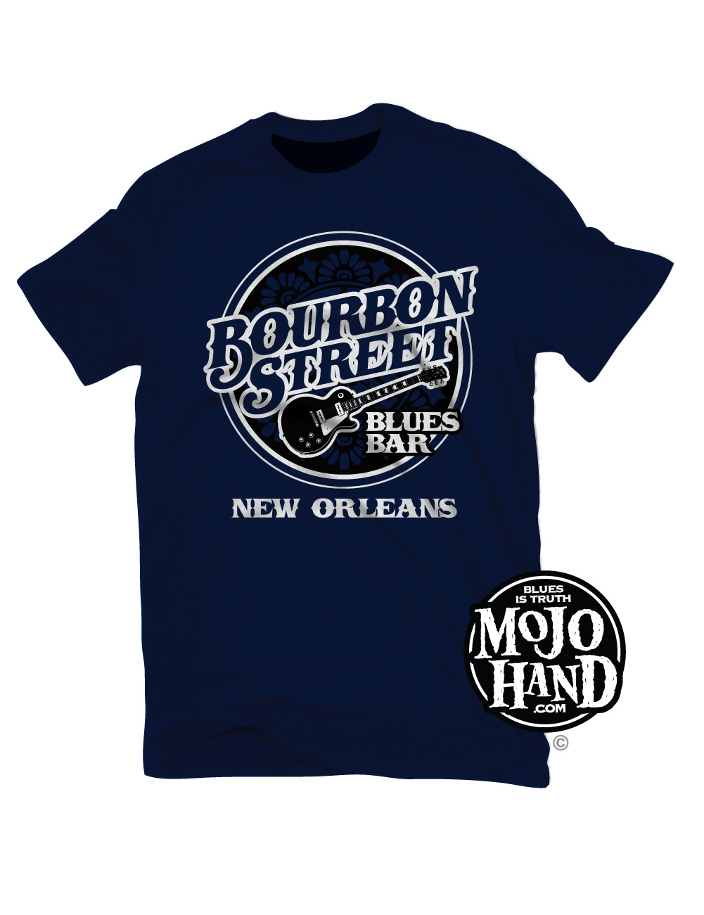 Bourbon Street Blues Bar T Shirt Mojohand Everything