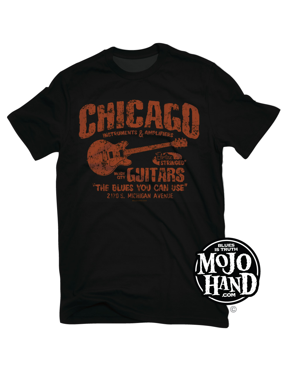 Chicago Blues Guitar Shop T Shirt Mojohand Everything