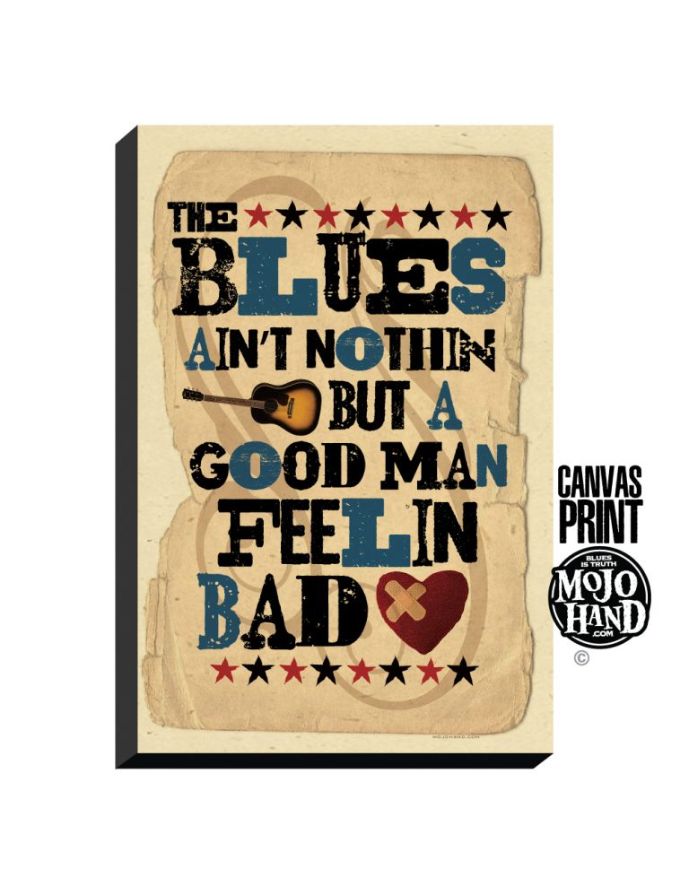 Blues canvas art print – music gifts
