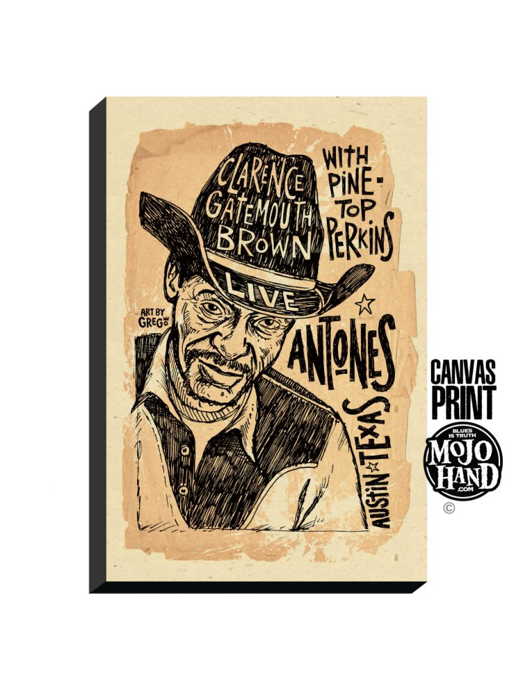gate mouth brown concert poster print