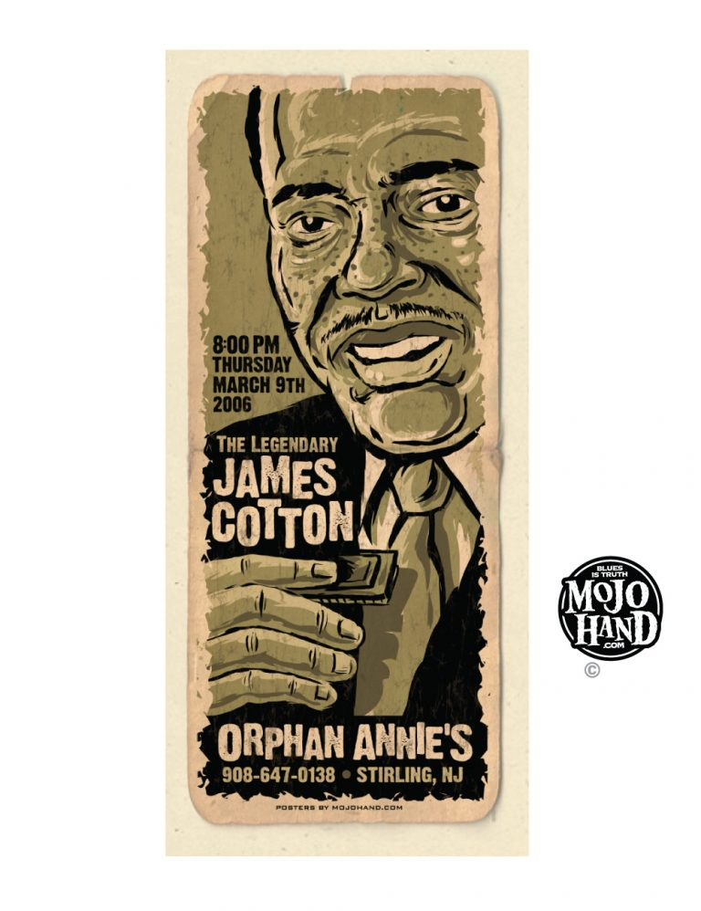 james cotton concert poster