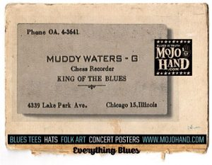 muddy waters blues business card!