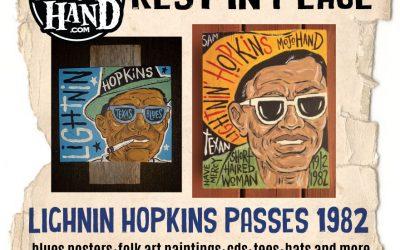 Today in Blues history – January 30, 1982 – Lightnin Hopkins passes away